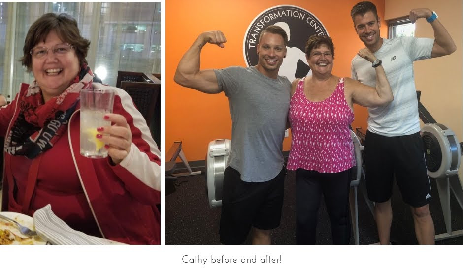 Cathy loses husband and purpose but finds it at the TC and drops 40 lbs
